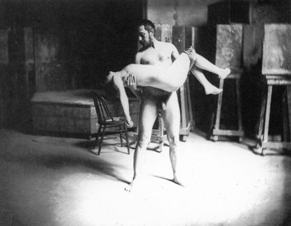 Thomas Eakins Carrying a Woman, 1885.